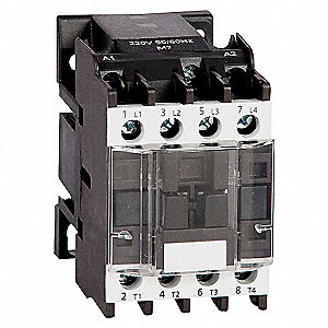 CONTACTOR ,IEC,12A,4P,120VAC,2NO/2N