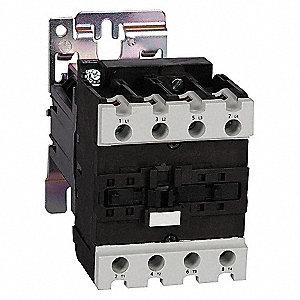 CONTACTOR ,IEC,50A,4P,24VDC,2NO/2NC