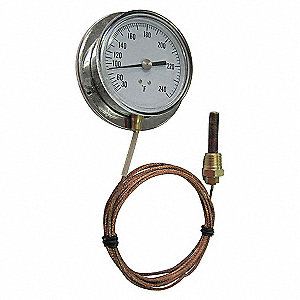 ANALOG PANEL MT THERMOMETER,0 TO 16
