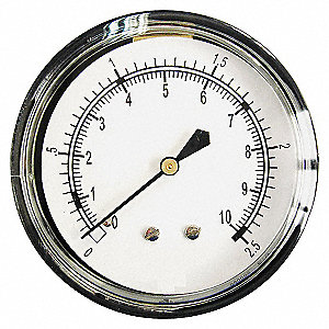 PRESSURE GAUGE,2 1/2 IN,0 TO 160 IN