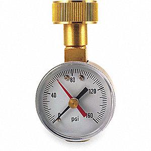PRESSURE GAUGE,WATER TEST,0 TO 160