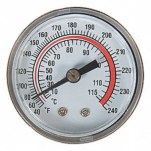 PANEL MOUNT THERMOMETER 40 TO 240 F
