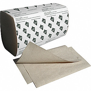 PAPER TOWEL,SINGLE FOLD,BROWN,PK16