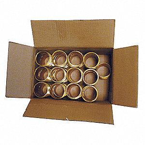 NIPPLE,RED BRASS,1/2IN NPT, 25PK