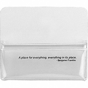 MAGNETIC POUCH,4-3/4 W X4 H X5/8 IN