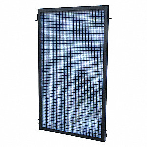 WIRE PARTITION PANEL,W 5 FT X H 5 F
