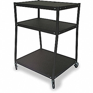 CART,WIDE BODY,3 SHELVES,BLACK