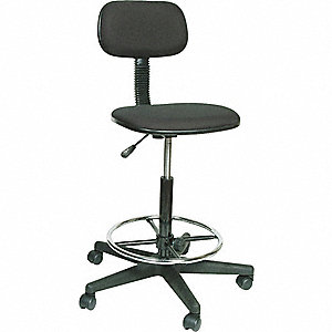 STOOL DRAFTING 24-34 IN BLACK