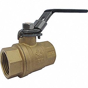 BRASS BALL VALVE,INLINE,FNPT,2 IN