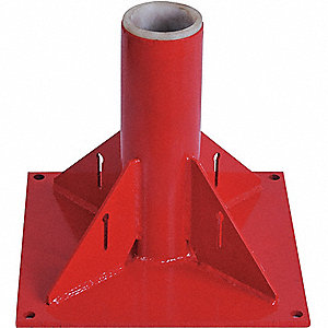 MOUNTING BASE,PEDESTAL,1 T,RED