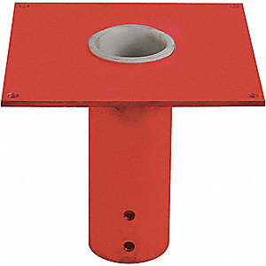 MOUNTING BASE,FLUSH MOUNT,1/2 T,RED