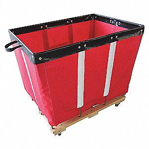 Basket Truck,6 Bu. Cap.,Red,30 In. L