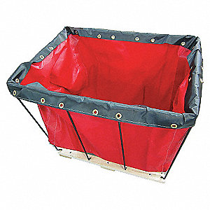 Basket Truck,12 Bu. Cap.,Red,36 In. L