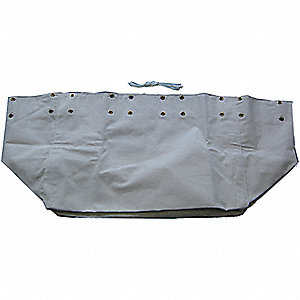 Replacement Liner,6 Bushel,Canvas,White