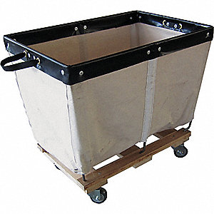 Basket Truck,10 Bu. Cap.,White,36 In. L