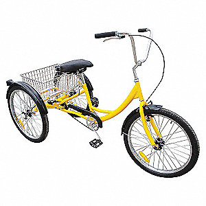 INDUSTRIAL TRICYCLE,24 IN,REAR BASK