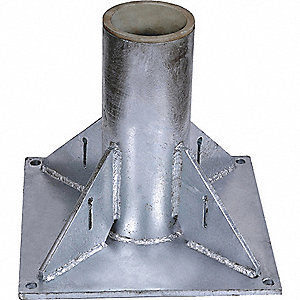 PEDESTAL MOUNT BASE,SS,FOR 4.5 IN M