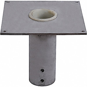 FLUSH MOUNT BASE,SS,FOR 4.5 IN MAST