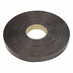 FLEXIBLE MAGNETIC STRIP,100 FT,1IN