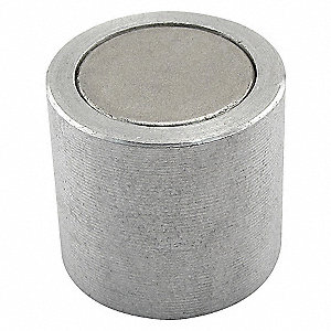 CUP MAGNET,1/2 IN DIA,NEO,ALUM CUP,