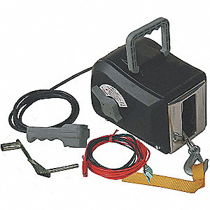 ELECTRIC WINCH,8-3/4 IN. W,WIRE