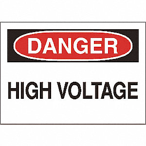 SIGN,3.5X5,HIGH VOLTAGE, S.