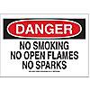 SIGN,10X14,DANGER NO SMOKING NO OPE
