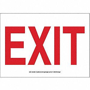 SIGN,10X14,EXIT, PLASTIC