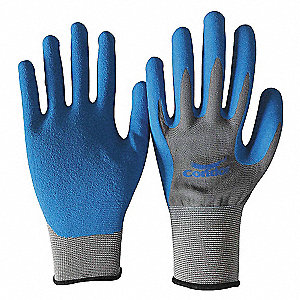 COATED GLOVES,XS,GRAY/BLUE,PR