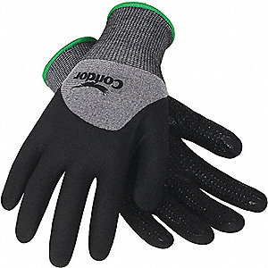 COATED GLOVES,L,GRAY/BLACK,PR