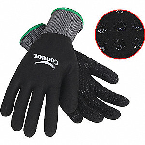 COATED GLOVES,M,GRAY/BLACK,PR