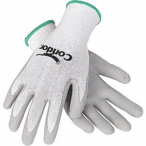 GLOVES CUT RESISTANT GRAY/WHITE S P