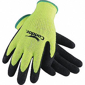 COATED GLOVES,XXL,HI-VIS YELLOW/BLA
