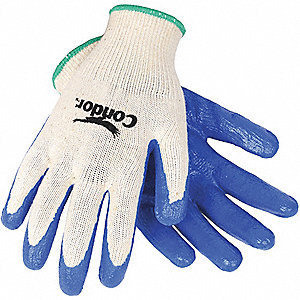 COATED GLOVES,S,NATURE/BLUE,PR