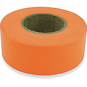 FLAGGING TAPE,FLUORESCENT ORANGE,15