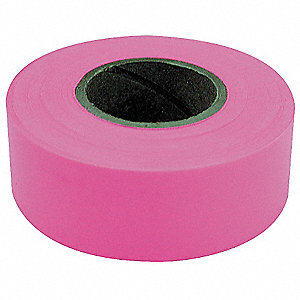 FLAGGING TAPE,FLUORESCENT PINK,150