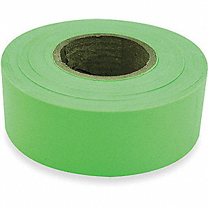 FLAGGING TAPE,FLUORESCENT LIME,150