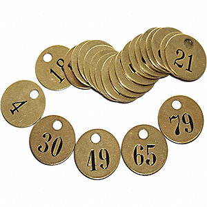 PRE-NUMBERED TAGS ROUND,26 TO 50, 1