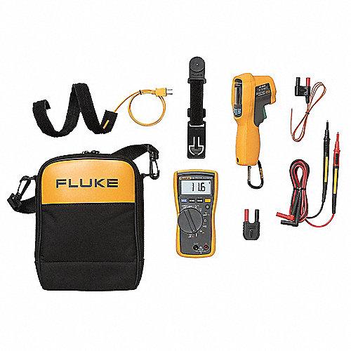 Kit Combinado para Técnicos, Instrumentos de Prueba Incluidos Multímetro Digital, Termómetro Infrarrojo