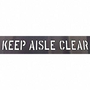 KEEP AISLE CLEAR STENCIL