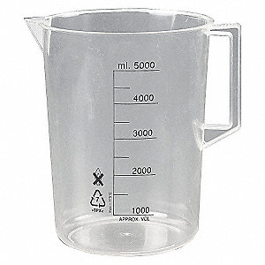 BEAKER,W/HANDLE,1000ML,POLY,PK 2