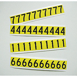 6IN VINYL SELFADHESIVE BLOCK NUMBER
