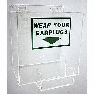 EAR PLUG DISPENSER,CLR ACRYLIC