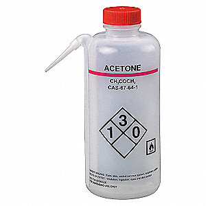 WASH BOTTLE,ACETONE,750 ML,PK2