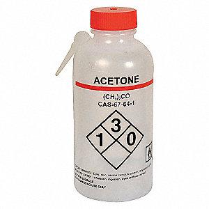 WASH BOTTLE,ACETONE,250 ML,PK4