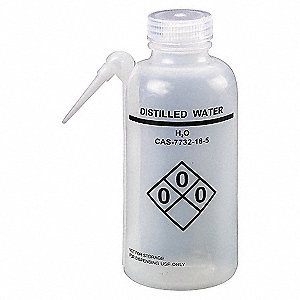WASH BOTTLE,WATER,500 ML,PK4