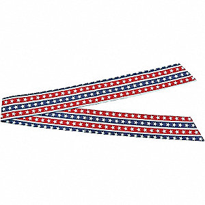 HEAD BAND/NECK TIE STARS + STRIPES