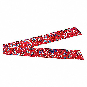 HEAD BAND /NECK TIE RED WESTERN