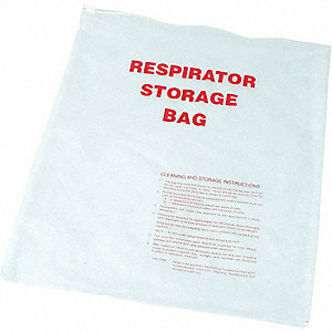RESPIRATOR STORAGE BAG,PVC,16X14 IN
