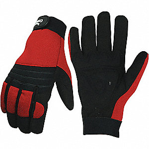 GLOVES ANTI-VIBRATION RD BLK XL PR